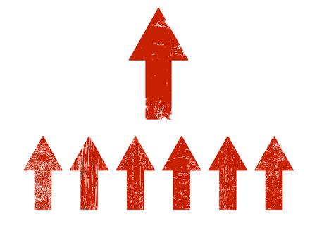Red arrows set. Arrow icon. Vector illustration