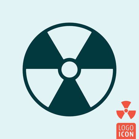 emanation: Radiation icon isolated. Hazard or warning symbol. Vector illustration.