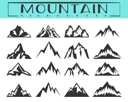 Conjunto de silueta de montaña