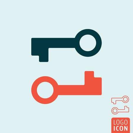 Key icon. Two keys symbol. Vector illustration