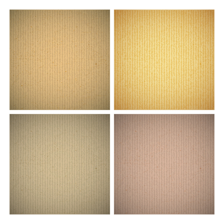 cardboard texture: Set of cardboard texture background various colors. Vector illustration. Illustration