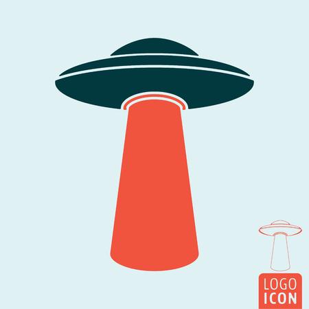 Ufo icona isolato Archivio Fotografico