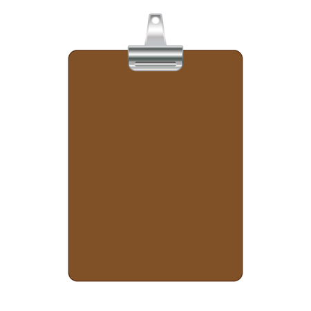 clipboard template isolated on white background empty clip board