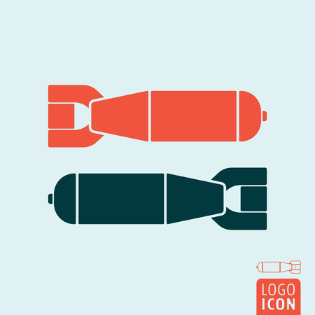Bomb icon. Two aerial bomb symbol. Vector illustration Illustration