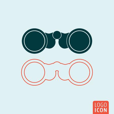 双眼鏡のアイコン。フィールド グラスのシンボル。ベクトル図