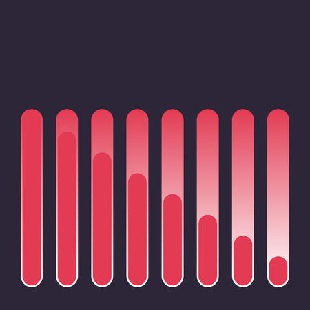 Audio equalizer abstract background. Sound wave symbol. Vector illustration. Illustration