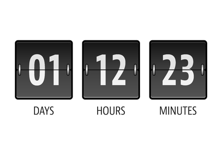announce: Coming soon countdown timer Illustration
