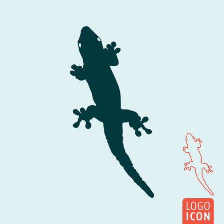 Lizard icon. Wildlife symbol isolated. Vector illustration