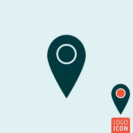 rout: Mark icon. Map pointer symbol. Vector illustration