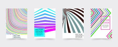 magazine design: Geometric covers template set. Design cover for magazine, printing products, flyer, presentation, brochure or booklet. Vector illustration. Illustration