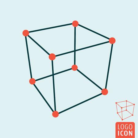 cube icône. structure cube de l & # 39 ; icône. illustration vectorielle