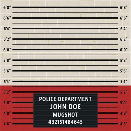 Police mugshot template
