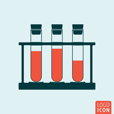 web site design template: Beakers icon isolated.