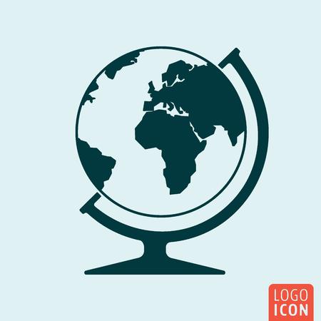 web site design template: Globe icon isolated. Illustration