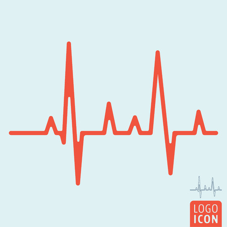 Heartbeat line icon. Фото со стока - 91652650