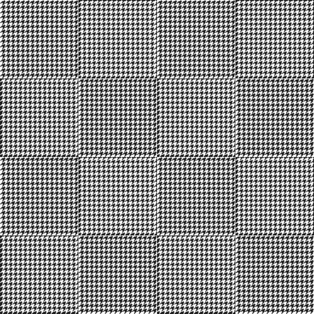 Black and white houndstooth seamless plaid pattern. Alternating hounds tooth check background. Vector illustration. Illustration