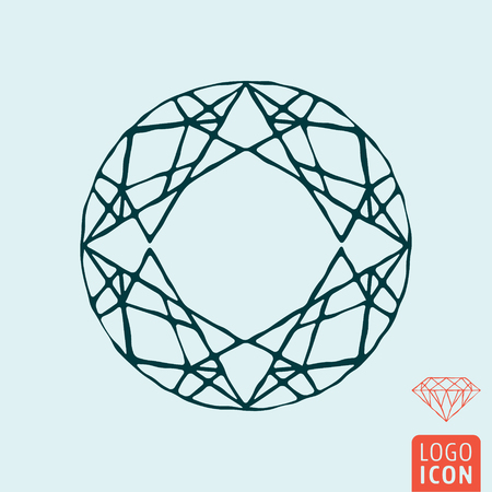 Diamond icon isolated