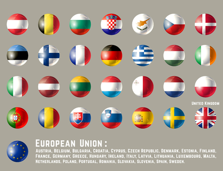 European Union round flags