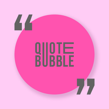 Quote bubble with shadow template. Vector illustration.