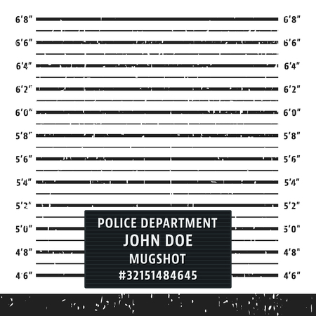 Police mugshot lineup board Vektorové ilustrace