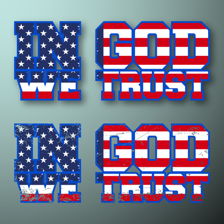 In God We Trust vintage t shirt stamp