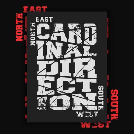 Cardinal direction vintage poster
