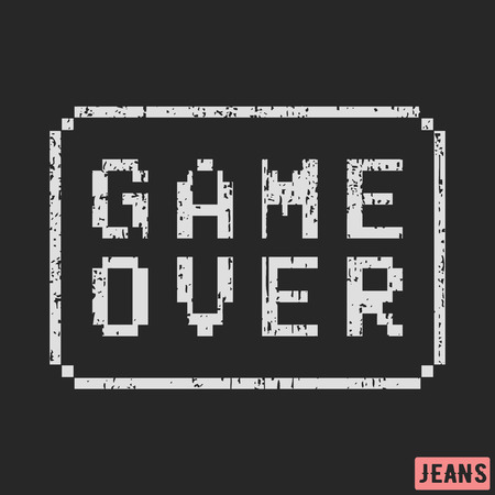 Game over print design