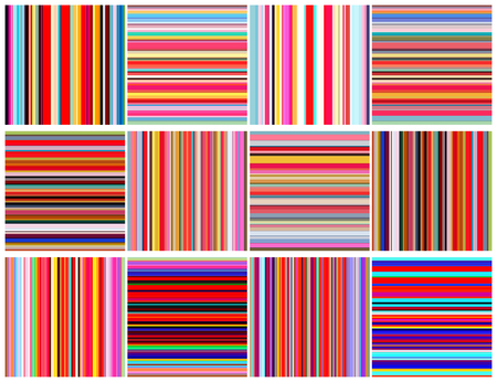 Set of color lines seamless pattern Illustration