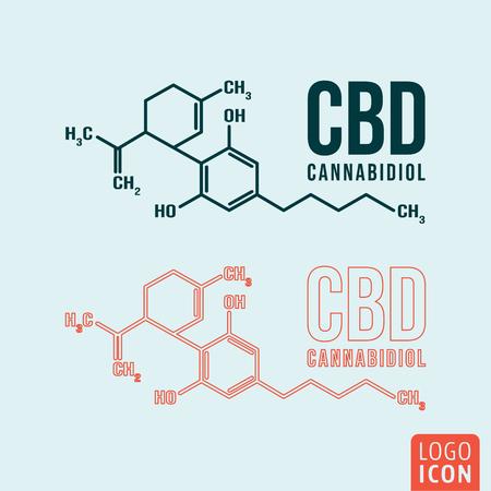 Símbolo de fórmula de cannabidiol