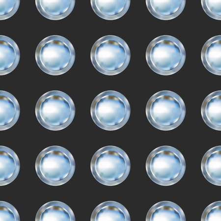 Seamless pattern background with metallic buttons. Vector illustration.