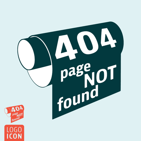 404 page not found - HTTP error message. Vector illustration.