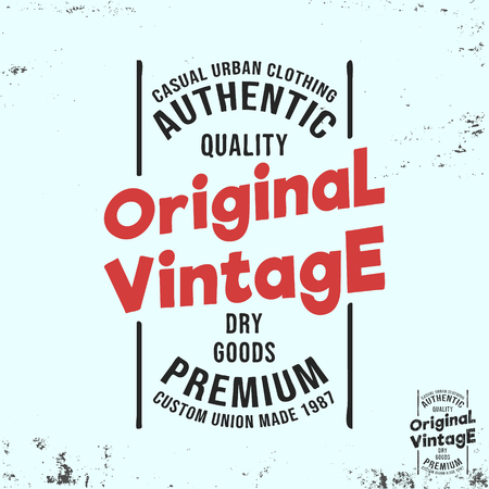 Original vintage stamp for badge, applique, label t-shirt, jeans, casual wear Çizim