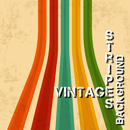 Vintage background with grunge textures. Retro texture lines backdrop. Vector illustration.