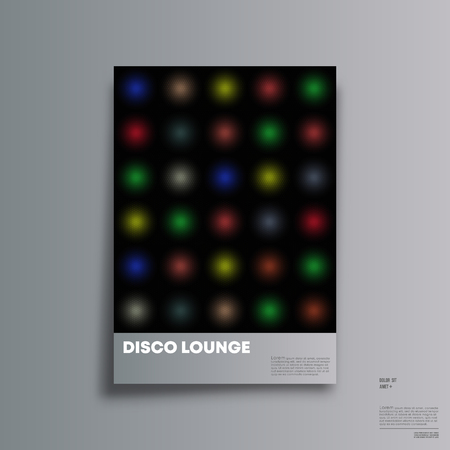 Vintage disco background for the banner, party flyer, poster, brochure cover or other printing products. Vector illustration.
