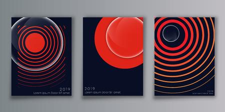 Cover minimal design background for the banner, flyer, poster, brochure or other printing products. Vector illustration. Ilustração