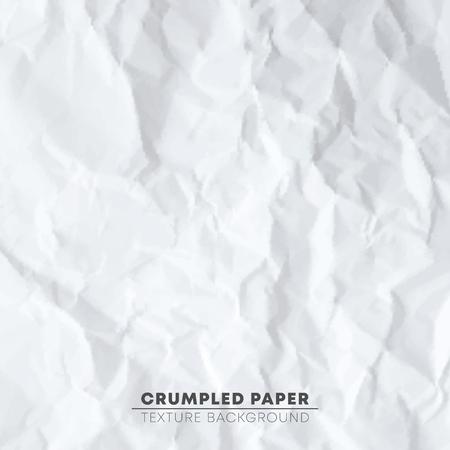 Crumpled white paper texture background. Pixel design pattern. Vector illustration.