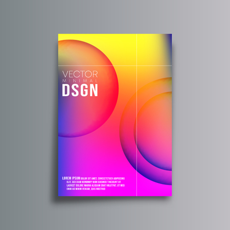 Colorful gradient background template for banner, party flyer, poster, brochure cover or other printing products. Vector illustration.