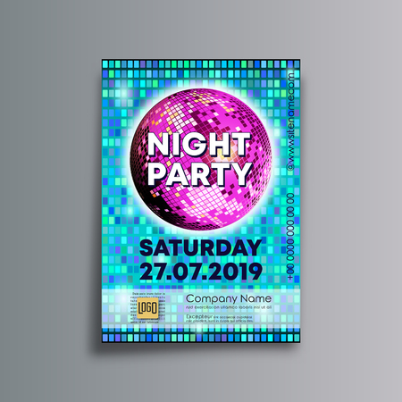 Night party background template, designed for poster, flyer, brochure cover, typography or other printing products. Vector illustration. Standard-Bild - 123317328