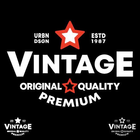Vintage t-shirt stamp. Typography design for printing badge, applique, label, t shirts, jeans, casual and urban wear Ilustração
