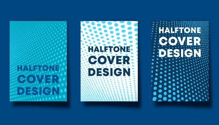 Set of halftone design background for banner, flyer, poster, brochure cover or other printing products Ilustração