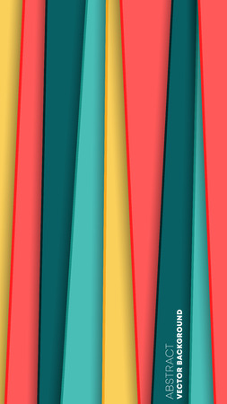 Abstract background with colored stripes, minimal design wallpaper. Vector illustration.