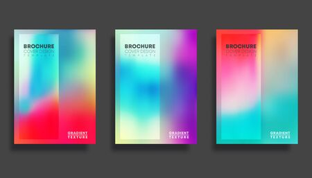 Colorful gradient cover template set design for flyer, poster, brochure, typography or other printing products.