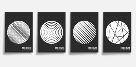 Background with abstract geometric shapes set. Design for flyer, poster, brochure cover, typography or other printing products. Vector illustration.