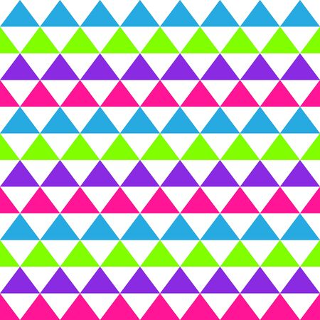 Abstract seamless geometric pattern with colored triangles. Background for wallpaper design template. Vector illustration.