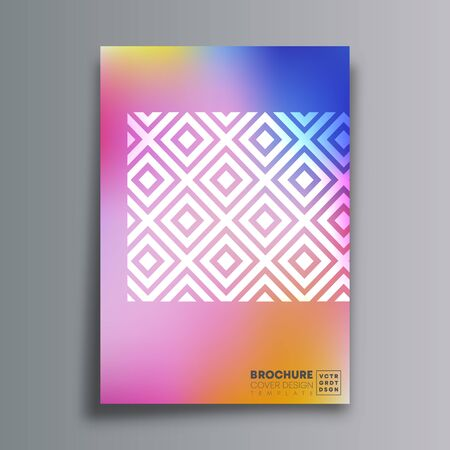 Abstract design poster with rhombus and gradient texture for flyer, brochure cover, vintage typography, background or other printing products. Vector illustration.
