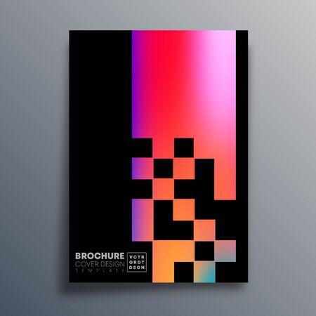 Poster mit buntem Farbverlaufsmuster für Flyer, Broschürencover, Vintage-Typografie, Hintergrund oder andere Druckprodukte. Vektor-Illustration.