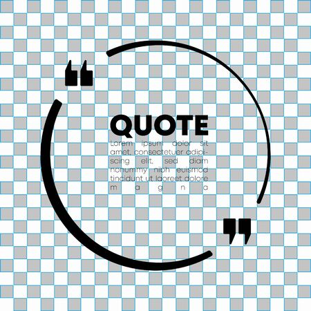 Quote speech bubble template. Quotes form, speech box isolated on transparent background. Vector illustration