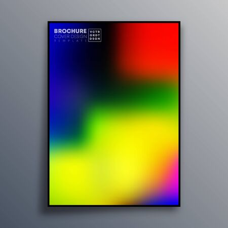 Abstract poster design with colorful gradient texture for wallpaper, flyer, poster, brochure cover, typography or other printing products. Vector illustration Фото со стока - 135332628