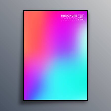 Abstract poster design with colorful gradient texture for wallpaper, flyer, poster, brochure cover, typography or other printing products. Vector illustration. Иллюстрация