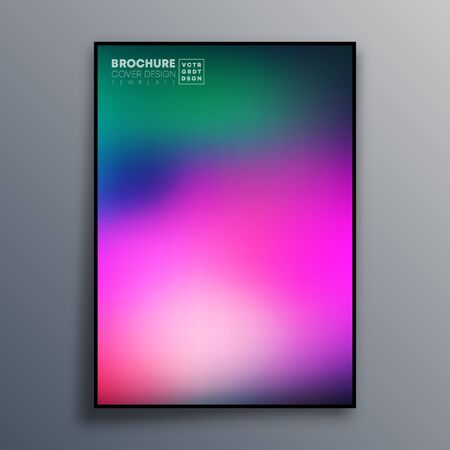 Abstract poster design with colorful gradient texture for wallpaper, flyer, poster, brochure cover, typography or other printing products. Vector illustration. Фото со стока - 135607364